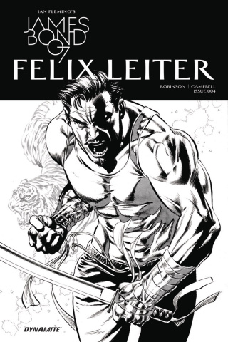 James Bond: Felix Leiter #4 (10 Copy B&W Cover)
