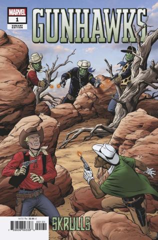 Gunhawks #1 (McLeod Skrulls Cover)