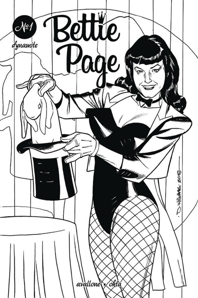 Bettie Page #1 (20 Copy Williams B&W Cover)