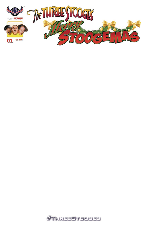 The Three Stooges: Merry Stoogemas (Blank Sketch Cover)