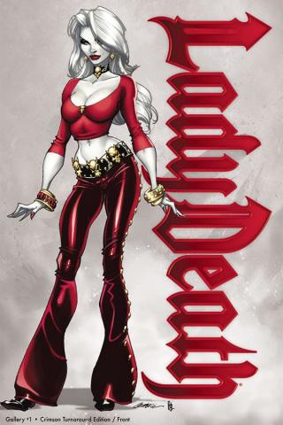 Lady Death Gallery #1 (Crimson Turnaround Cover)