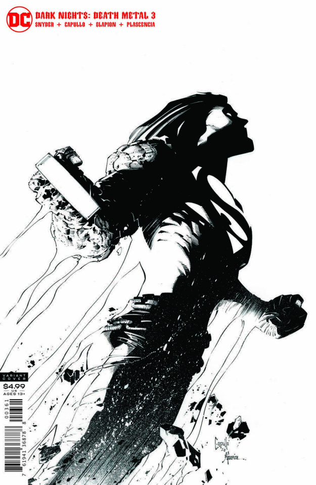 Dark Nights: Death Metal #3 (1:100 Greg Capullo B&W Cover)