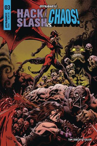 Hack/Slash vs. Chaos! #3 (Hotz Cover)