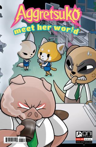 Aggretsuko: Meet Her World #3 (Hickey Cover)