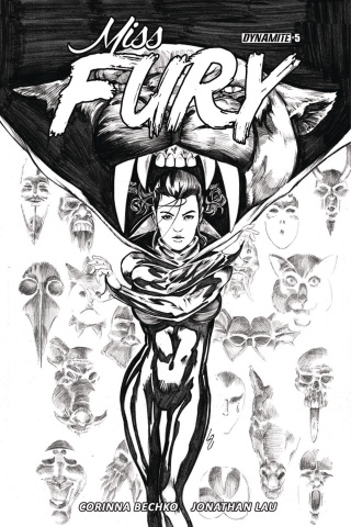 Miss Fury #5 (15 Copy Lau B&W Cover)