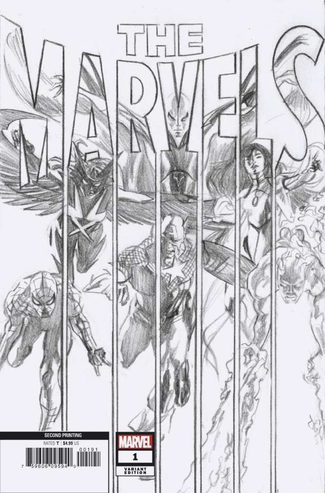 The Marvels #1 (Alex Ross Ratio 2nd Printing)