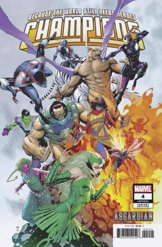 Champions #4 (Pham Asgardian Cover)