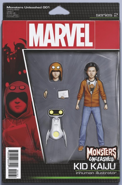 Monsters Unleashed! #1 (Christopher Action Figure Cover)