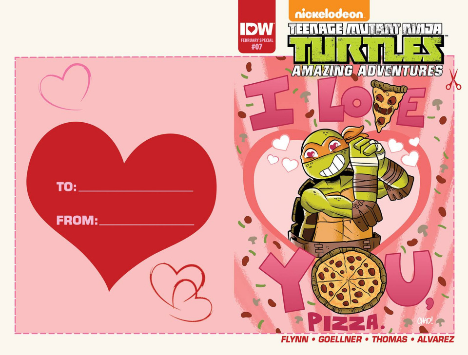 Teenage Mutant Ninja Turtles: Amazing Adventures #7 (Valentine's Day Card Cover)