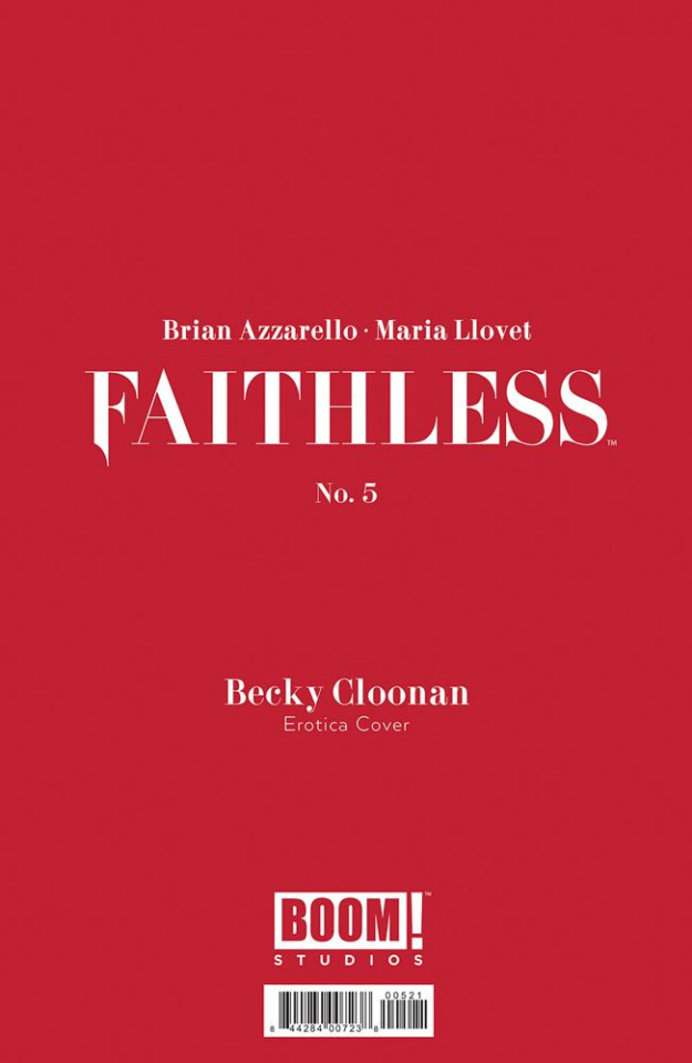 Faithless #5 (Erotica Cloonan Cover)