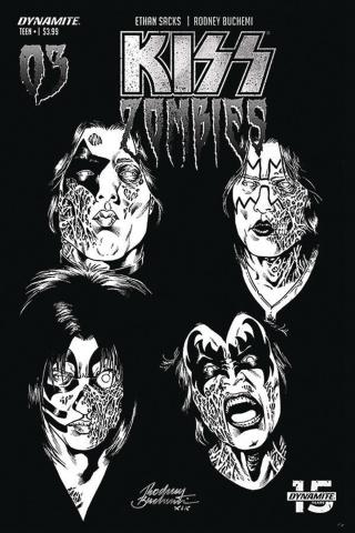 KISS: Zombies #3 (30 Copy Buchemi B&W Cover)