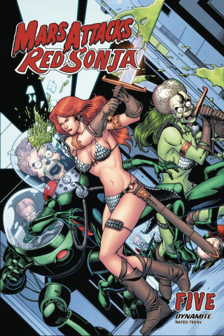 Mars Attacks / Red Sonja #5 (Kitson Cover)