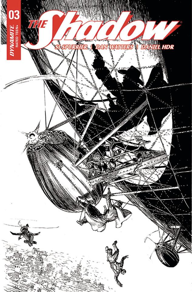 The Shadow #3 (40 Copy Kaluta B&W Cover)