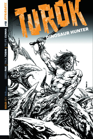 Turok: Dinosaur Hunter #12 (10 Copy Sears B&W Cover)