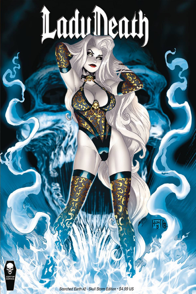 Lady Death: Scorched Earth #2 (Skull Storm Cover)