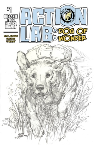 Action Lab: Dog of Wonder #1 (Coloring Book Neal Adams Cover)