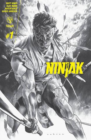 Ninjak #1 (60 Copy B&W Larosa Cover)