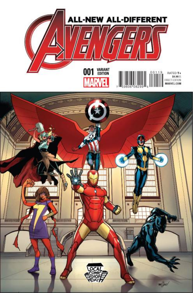 All-New All-Different Avengers #1 (Marquez Local Comic Shop Day)
