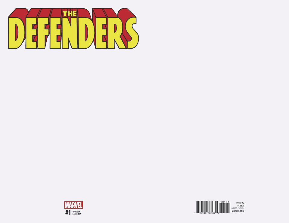 The Defenders #1 (Blank Cover)