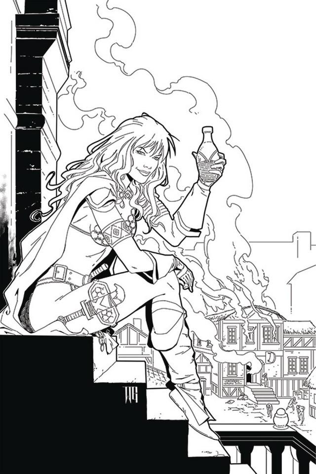 Red Sonja: The Price of Blood #2 (25 Copy Geovani B&W Virgin Cover)