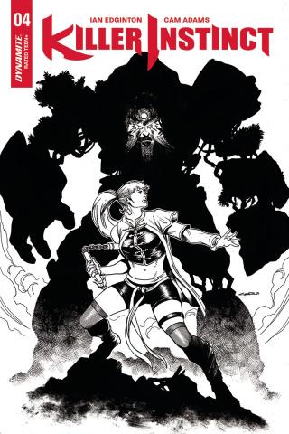 Killer Instinct #4 (20 Copy Cinar B&W Cover)