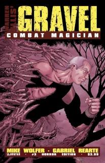 Gravel: Combat Magician #3 (Horror Cover)
