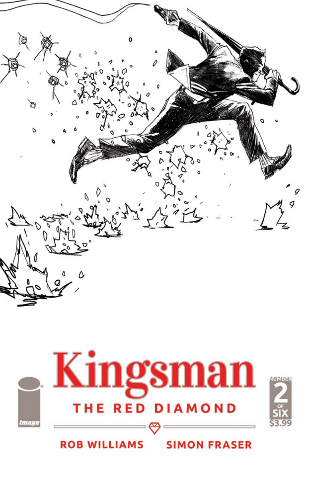 Kingsman: The Red Diamond #2 (B&W Albuquerque Cover)