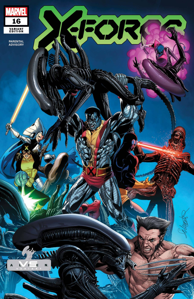 X-Force #16 (Larroca Marvel vs. Alien Cover)