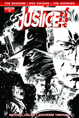 Justice, Inc. #2 (10 Copy Hardman B&W Cover)
