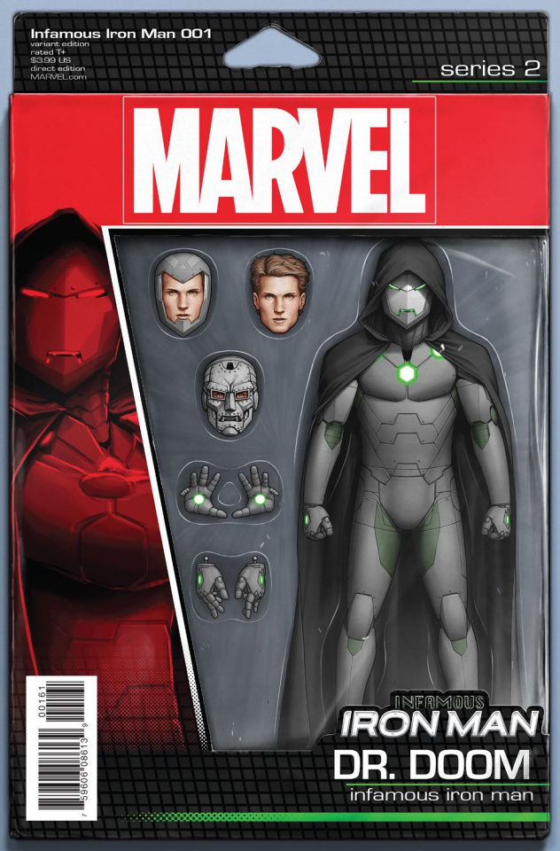 Infamous Iron Man #1 (Christopher Action Figure Cover)