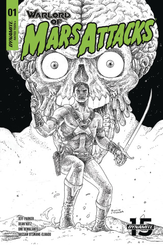 Warlord of Mars Attacks #1 (40 Copy Villalobos B&W Cover)