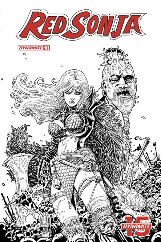 Red Sonja #1 (25 Copy B&W Haeser Cover)