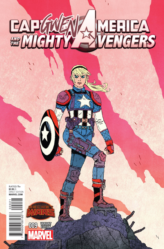 Captain America and the Mighty Avengers #9 (Capgwen America Cover)