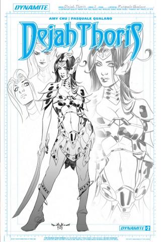 Dejah Thoris #2 (5 Copy Qualano Artboard Cover)