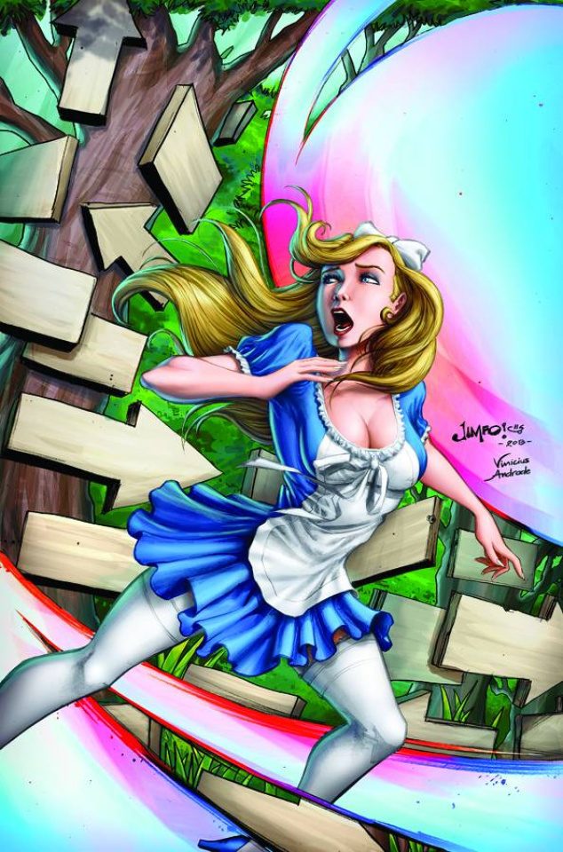 Grimm Fairy Tales: Wonderland - Down the Rabbit Hole #5 (Salgado Cover)
