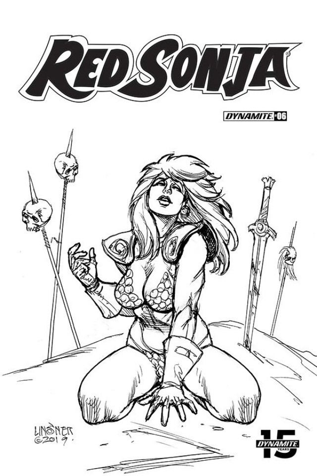 Red Sonja #6 (30 Copy Linsner B&W Cover)