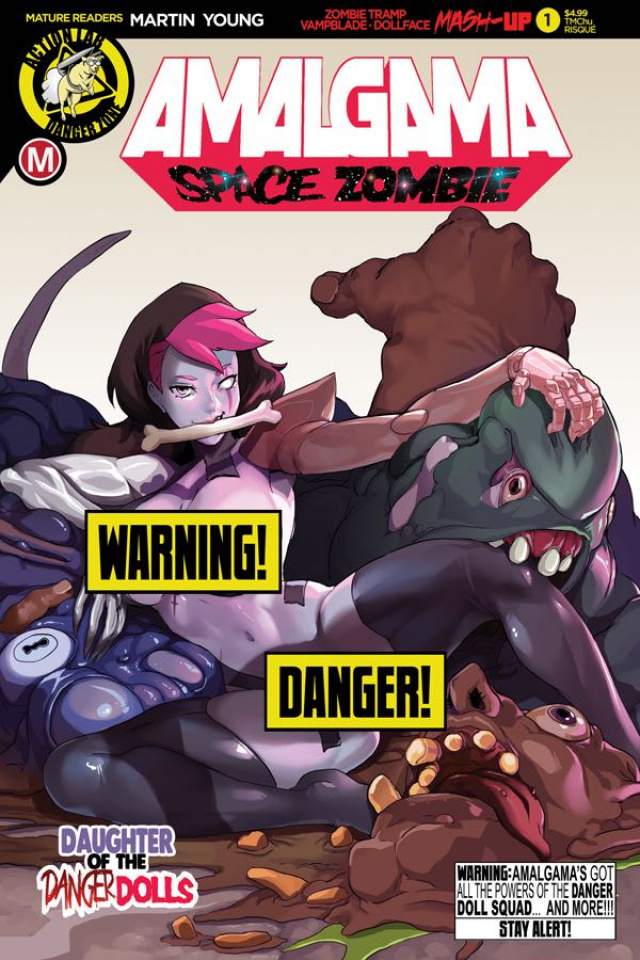 Amalgama: Space Zombie #1 (TMChu Risque Cover)