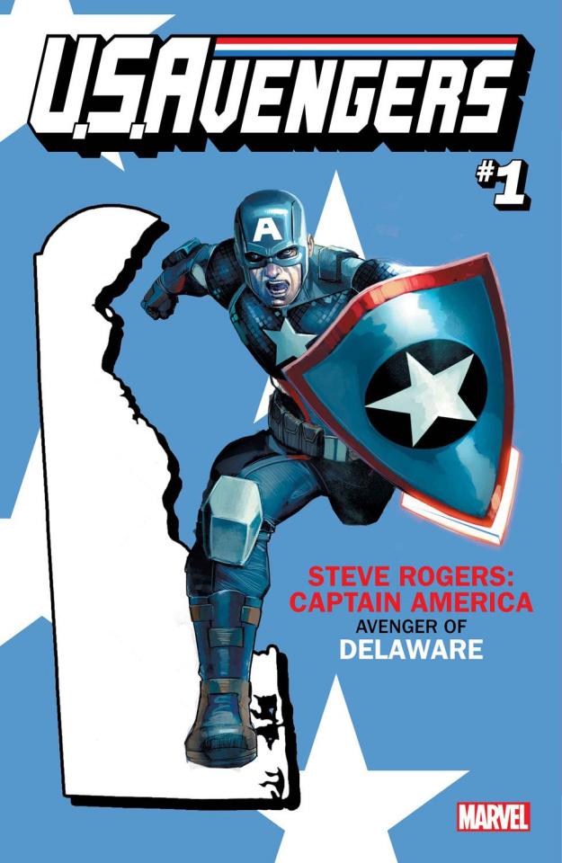 U.S.Avengers #1 (Reis Delaware State Cover)