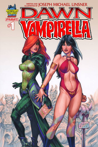 Dawn / Vampirella #1 (Midtown Linsner Cover)