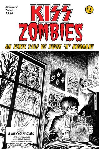 KISS: Zombies #2 (11 Copy Haeser B&W Cover)
