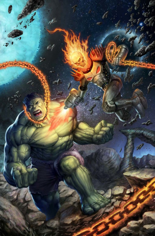 The Immortal Hulk #6 (Schoonover Cosmic Ghost Rider Cover)