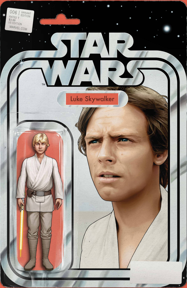 Star Wars #6 (Christopher Yellow Lightsaber Action Figure Cover)