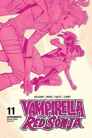 Vampirella / Red Sonja #11 (Romero & Bellaire Cover)