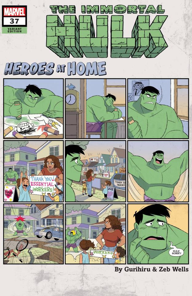 The Immortal Hulk #37 (Gurihiru Heroes At Home Cover)