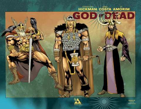 God Is Dead #5 (Pantheon Wrap Cover)