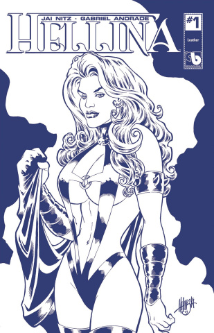 Hellina #1 (Royal Blue Leather Cover)