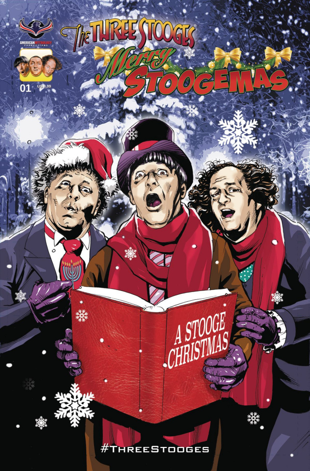 The Three Stooges: Merry Stoogemas (Larocque Cover)
