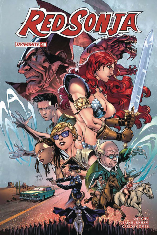 Red Sonja #16 (Gomez Subscription Cover)