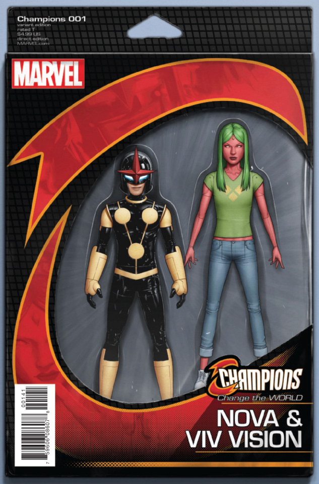 Champions #1 (Christopher Now Action Figure Cover)