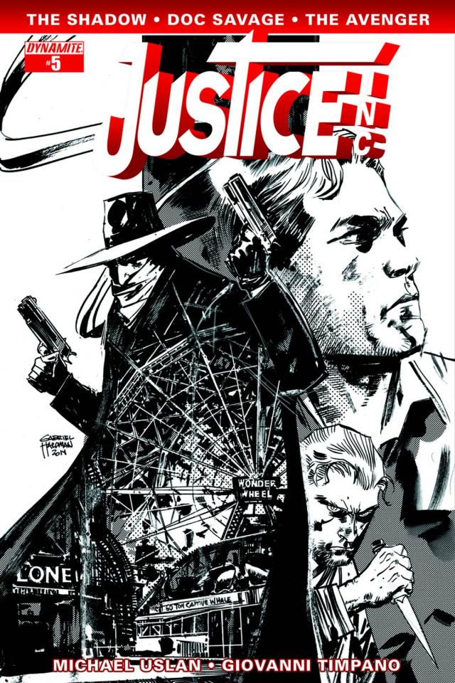 Justice, Inc. #5 (10 Copy Hardman B&W Cover)